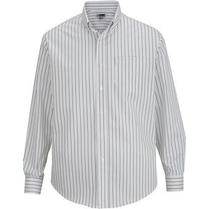 Edwards Men's Long Sleeve Striped Dress Shirt