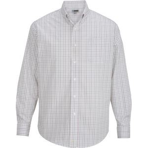 Edwards Men's Long Sleeve Tattersall Dress Shirt